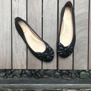 CIRCUS x SAM EDELMAN Black Round Toe Ballet Flats